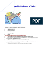 India Map Physiographic Divisions of India
