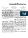 Durabilty Characteristics of HPC With GGBFS