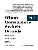 1 When Consumers Switch Brands