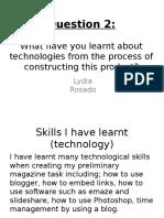 Question 2 - Lydia Rosado