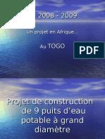 Présentation projet Puits à grand diamètre 2008-2009