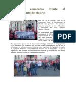 UGT Se Concentra Frente Al Ayuntamiento de Madrid