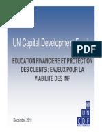 Education Financiere Et Protection Des Clients Pour La Viabilite Des Imf