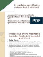 Modificări Legislative Cu Impact După 1 Iulie 2012
