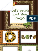 Lets Count and Sign Numbers 010