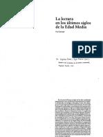 Saenger - La lectura en los últimos siglos de la Edad Media.pdf