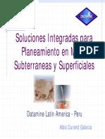 Soluciones Integradas en Planeamiento de Minas