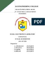 EC6361 Electronics Laboratory
