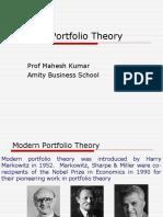 Modern Portfolio Theory-Markowitz