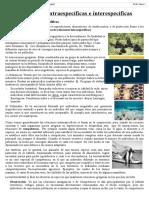 Relaciones Intraespecíficas e Interespecíficas - 1ro Sec