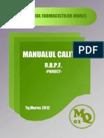 Curs Manualul Calitatii RBPF