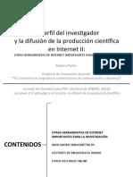 El perfil del invesgador y la difusion de la produccion científica en Internet II