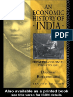 An Economic History of India - Diet Rothermund 1993