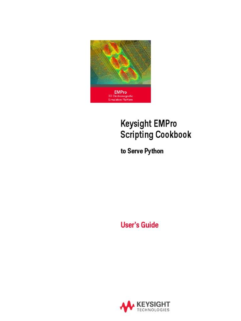 Empro Python Cookbook | Parameter (Computer Programming