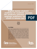 English Learner Students' Readiness for Academic Success