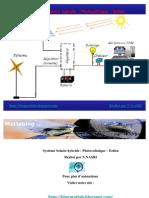 Générateur photovoltaique Hybride Animation