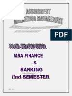 Marketing Management Mba