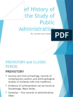 History of Public Administration