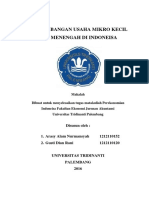 Perkembangan Usaha Mikro Kecil Dan Menengah Di Indonesia