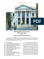 Restoration of City Hall, Dublin - Civic Trust Paper