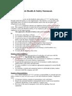 Sample Health & Safety Statement