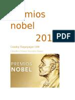 Premios Nobel 2016