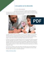 Importancia de Los Padres en La Educación Preescolar