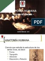 Anatomía I - Conceptos, planos, ejes