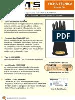 Ficha Técnica - Luva Isolante 2,5KV - Classe 00