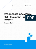 ZTE_GSM_WCDMA Cell Reselection & CS Handover