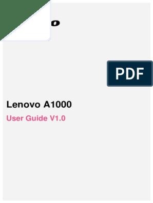 Lenovo A1000 Tutorial | Wireless Lan | Web Page