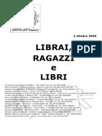Librai Ragazzi e Libri Ottobre 2016