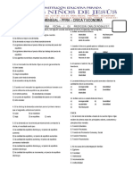 Examen Mensual Pfrh Civica y Economía Secundaria