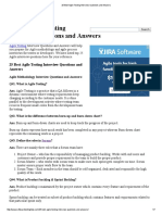 25 Best Agile Testing Interview Questions and Answers