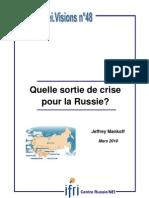 Quelle sortie de crise pour la Russie?