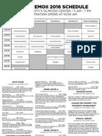 2016 DeMoii Schedule