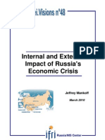 Internal and External Impact of Russia's Economic Crisis