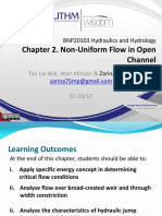 Chapter2 Non-Uniform Flow in Open Channel
