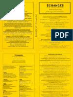 Echanges N°147 – Printemps 2014