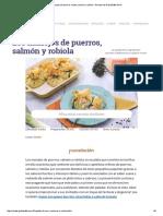Manojos de Puerros Receta, Salmón y Robiola - Recetas de GialloZafferano