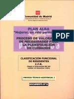 PROCESO DE VALORACION DE NECESIDADES PARA LA , PLANIFICACION DE CUIDADOS. COMUNIDAD DE MADRID