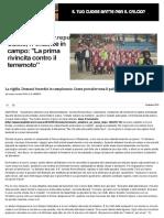 Calcio, l'Amatrice in Campo_ _La Prima Rivincita Contro Il Terremoto_ - Repubblica