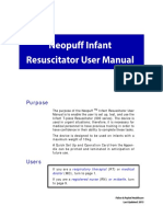 NEOPUFF Infant Resuscitator User Manual