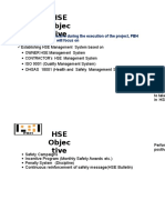 4) Hse Objective