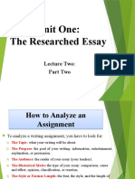 Researched Essay - Part II