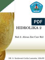 Hidrolika 2 Bab 2. Aliran Zat Cair Riil