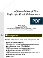Toward formulation of new project for road maintainance