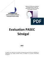 Rapport PASEC Senegal Version Janvier 2010