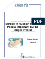 Europe in Russian Foreign Policy