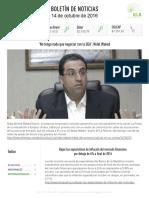 Boletín de noticias KLR 14OCT2016